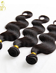 "3Pcs Lot 8""-30"" Mongolian Body Wave Virgin Hair Weave Bundles Natural Black Cheap Remy Human Hair Extensions Tangle Free"