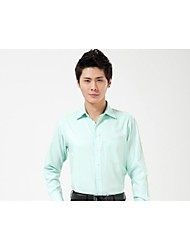 U&Shark New Hot! Men's Slight Green Twill Denim Long Sleeve Shirt/CXW007