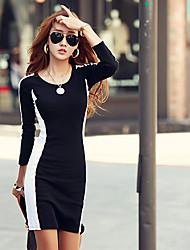 vestido tubo color de contraste de yisala mujeres