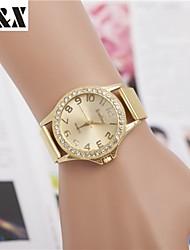 Mulheres Relógio Elegante Relógio de Moda Relógio de Pulso Quartzo Lega Banda Dourada