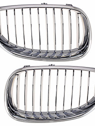 Silver Chrome Grille Grill Kidney For BMW E60 E61 5 Series M5 03-09
