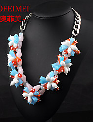 Crystal flower necklace clothing accessories