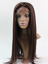 Women Lace Front Wig 10inch~20inch India Hair Color(#1 #1B #2 #4) Yaki Straight Hair
