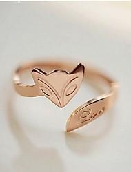 volpe puro oro rosa anello regalo fatto a mano