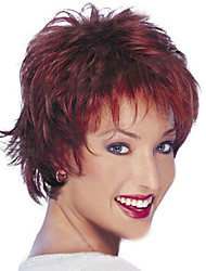 European and American Fashion Wine Red Short Hair Wig