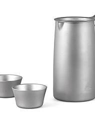 fogo-de bordo pote de titânio chá prajna furo outdoor FMP-T320 titânio de chá teapot