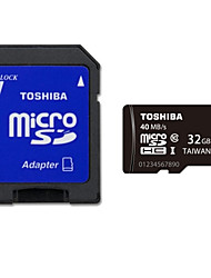 Original Toshiba 32GB Class 10 MicroSDHC Memory Card UHS-I with SD Adapter R:40MB/S