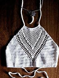 Women's Sexy Handmake Knitted Crochet Bikini Top Beachwear Bikini Top(Bra Only)