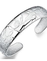 kiki 925 pulsera de plata de loto abierta