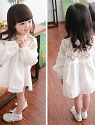 Girl's Fashion Hollow Out Long Sleeve Dresses
