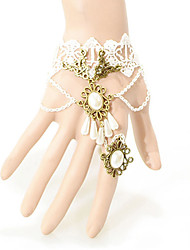 Party / Casual Alloy / Imitation Pearl / Fabric Charm / Braided/Cord / Lace Bracelet