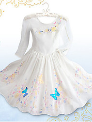 Kid's Casual/Cute/Party Dress (Chiffon/Cotton/Mesh)