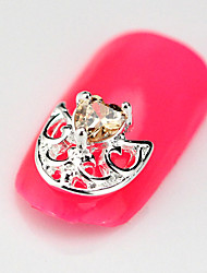 2015 New 10PCS RG023 Fashion Luxury Zircon 3D Alloy Nail art Decoration Diamond Finger Salon Accessories Supplier