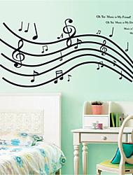 стикеры стены наклейки на стены, прекрасные ноты наклейки стены PVC