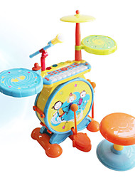 New Arrival Educational Toy Musical Instrument Jazz Drum Set with Piano and Microphone