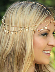Bohemian Women's Circle Drop Head Chain Jewelry Forehead Dance Headpiece Hair Band