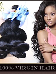 "3 Pcs Lot 8""-30"" Unprocessed Peruvian Virgin Hair Body Wave Wavy Natural Black Human Hair Weave Weft Bundles Tangle Free"