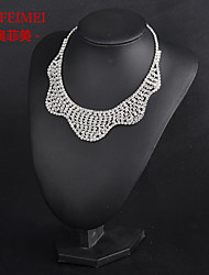 Bridal Jewelry Set Korean Fashion hollow fake collar necklace full of diamond bridal accessories