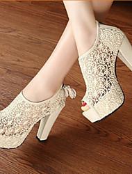Stiletto - 3-6cm - Damenschuhe - Pumps/Heels ( Lackleder , Schwarz/Mandelfarben )