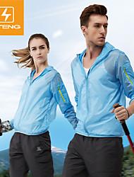 Top/Giacche a vento/Jersey - Campeggio e hiking/Pesca/Fitness/Attività ricreative/Spiaggia/Ciclismo/Corsa - Per uomo - Maniche lunghe -