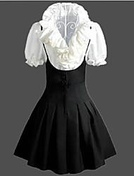 Skirt Sweet Lolita Vintage Inspired Cosplay Lolita Dress Vintage Sleeveless Medium Length Shirt Skirt Dress For Polyester