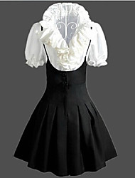 White Blouse Black Pantskirt Classic Lolita Outfit