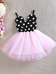 Girl's Black Dress Cotton / Mesh Summer / Spring