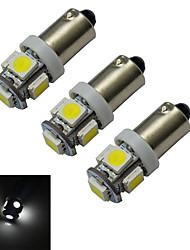Luces Decorativas BA9S 1 W 5 SMD 5050 70-100lm LM Blanco Fresco DC 12 V 3 piezas
