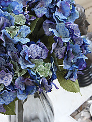 "19.7""L Blue Large Hydrangea For Home Decorative"