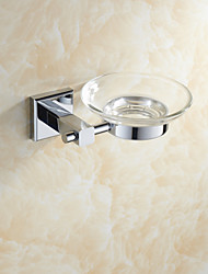 Bathroom Accessories Brass Material Chrome Finish Soap Dishes