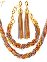Collares/Pendientes/Pulseras ( Legierung/Chapado en Oro Rosa/Chapado en Oro )- Cosecha/Bonito/Fiesta/Trabajo/Casual para Mujer
