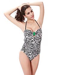 Women Nylon Padless Bra Halter Bikinis