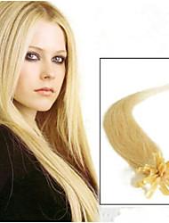 1pc / lot 18 Zoll / 45cm multi gerade Nagelspitze Haarverlängerung grade5a Menschenhaarverlängerung 100s / Packung 0,5 g / s