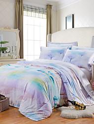 tencel luxo modal algodão king size rainha 4pcs jogo de cama fronha duvet têxteis coverhome quilt cobrir folha plana