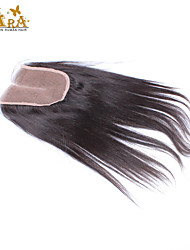 "10""-20"" Peruvian Virgin Hair Straight Lace top Closure Color Natural Black Baby Hair for Black Women"