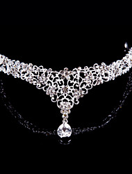 Women Alloy Forehead Jewelry With Rhinestone Wedding/Party Headpiece