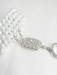 Women's  Imitation Pearl Rhinestone Bracelet