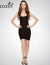 nuoxin® Women's Strapless Package Buttocks Cultivate One's Morality Stretch The Bandage Sexy Dress