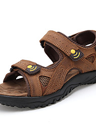 Men's Shoes Casual Calf Hair Sandals Brown/Khaki