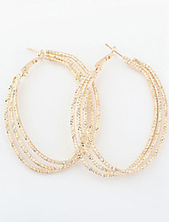 Cute / Casual Alloy Hoop Earrings