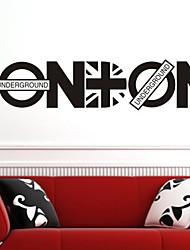 Wandaufkleber Wandtattoo, Stil Englisch London Briten reden PVC-Wandaufkleber