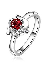 Sweet cute Women's Red Diamond Rings(1 Pc)