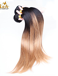 """3st / lot 10 """"-26"""" ombre hår malaysianen jungfru hårfärg 1b27 rakt mänskliga hårwefts"""