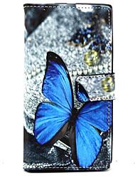 Pour Coque Nokia Portefeuille Porte Carte Avec Support Coque Coque Intégrale Coque Papillon Dur Cuir PU pour Nokia Nokia Lumia 830
