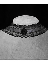 Handmade Elegant Classical Black Lolita Necklace