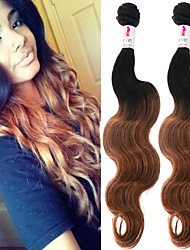 "3 Pcs/Lot 12""-26"" 100% Brazilian Unprocessed Virgin Human Hair #1B-30 Color Ombre Body Wave Hair Weaves"