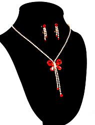 Women's Rhinestone Wedding/Party Jewelry Set With Rhinestone