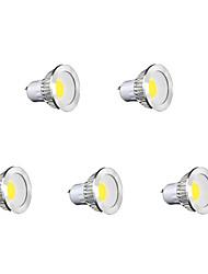 5W GU10 Точечное LED освещение MR16 1 COB 450 lm Тёплый белый / Холодный белый / Естественный белый AC 85-265 V 5 шт.