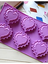 Fashoin Heart Shape Ice Chocolate Making Cake Tools Silicone Cake Mold Candy Jelly Soap Modeling Mould (Random Color)