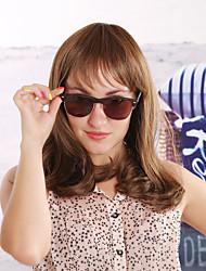 kvinnor syntetisk brun peruk djupa våg 14 tum